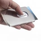 1 шт. визитная карточка женщины моде палец выскользнуть нержавеющей стали карманных ID владелец кредитной карты чехол мужчины бесплатная доставка