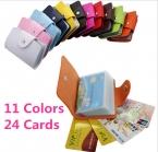 Бизнес кредитных карт бумажника сумки искусственная кожа пряжки банковская карта мешок 24 ID карты банк многофункциональный крышка BB071-SZ
