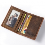 Бесплатная доставка мужчины продают подлинной кожаный бумажник бизнес свободного покроя кредитная карта удостоверение личности , деньги карты держатель-браун K100