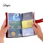 Новый 90 мест Карты кожаный держатель банковской карты кредитные пакет карт протектор визитная карточка сумка большой емкости лучшие подарки сплошной