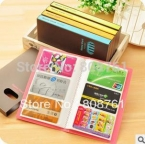 120 карты конфеты цвет визитная карточка имя кардхолдер книга большой емкости кредитная кард-холдер чехол мешок