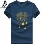 Пионерский Лагерь  новая мода лето футболка мужчины о-образным вырезом хлопок комфортно человек футболку фитнес футболка homme мужская одежда 522056
