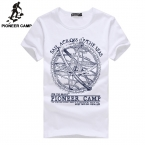 Pioneer Camp men shorts tshirt fashion brand design sportswear pretty cotton young white slim straight o-neck