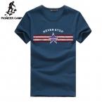 Pioneercamp бесплатная доставка. Мужская новый  мода т рубашки хлопка фитнес короткие рукава футболка - мужская одежда спортивной хип-хоп