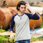 Пионерский Лагерь  Весна футболка С Длинным Рукавом Мужчин Slim Fit Tee мужчины Повседневная T shirAt O-образным Вырезом Pluse Размер для Больших и Высоких 522089