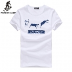 Пионер лагерь. Бесплатная доставка  новинка мужская футболка марка одежды свободного покроя спорт забавный футболки тренажерный зал печать уличной майка