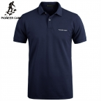 Pionner Camp Brand New Men Polo Shirt Men 's Business and Casual solid polo shirt Short Sleeve breathable golf polo shirts t