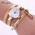 Новая Мода Стиль Кожа Повседневная Часы Браслет Наручные часы Женщины Одеваются Часы Длинный Кожаный Браслет XR1297
