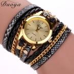 77 мода горячая распродажа новый леопард-принт Duoya браслет наручные часы женщины платье женские часы люксовый бренд кварцевые часы XR621