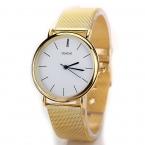 Новая Мода Повседневная Золото Geneve Марка Нержавеющей Стали Спортивные Наручные Часы Женщины Мужчины Женщины Подарок Кварцевые Часы XR1076