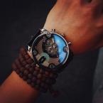 Мода JIS Высокое Качество Blue Ray Черный Коричневый Кожаный Ремешок Стальной Корпус Мужчины Мужской Кварцевые Часы Наручные Часы Часы