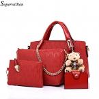 Soperwillton известный бренд женщины бренда  мода женщины сумки сумки искусственная кожа женская сумка 4 шт. комплект # 150