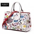 Nawo мода кожаные сумки женщины  высокое качество роскошных сумок женщин сумки дизайнер мультфильм печать женщины кроссбоди