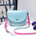 Женская сумка высокого качества конфетного цвета, модель  из искусственной кожи.
