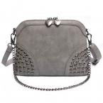 высокое качество искусственная кожа женщины сумочку дизайнер заклепки женщины сумку мода старинные женщин с цепи сумка