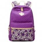 Этнические женщины рюкзак для школы подростков девочек стильный женская сумка рюкзак женский пурпурно-пунктирная печать высокое качество