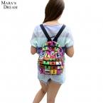 Новая Женщина Рюкзак Горячие Продажи Холст Мешок Школы Печать Легкий Школьные Рюкзаки Модные женские Сумки