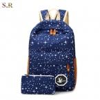 горячая распродажа холст женщины рюкзак большой мощности школа сумки для подростков печать рюкзаки для девушки Mochila эсколар CB189