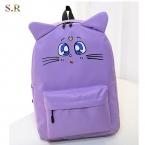 Harajuku стиль рюкзак сейлор мун холст рюкзак милый кот сумка школьные сумки для подростка девочек книга сумка рюкзак CB190