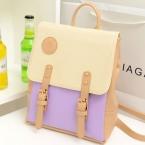 весной новой корейской женская сумка рюкзак ретро хит цвет заклинание цвет розовая кожа свободного покроя сумка