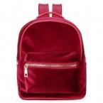 Мода женщин милые рюкзаки бархат свободного покроя стиль ретро Backapck сплошной фланелевые девушки Mochila молния маленький мешок сумки 4 цветов