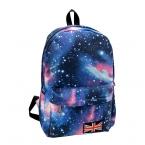 Мода мужская звезды вселенной пространство печать рюкзак школа книга рюкзаки британский флаг-бесплатная сумка HB88