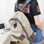 9.9  женский женщины этнической краткое холст рюкзак элегантное школа стиля Леди студентка школы Путешествия ноутбук сумка mochila bolsas