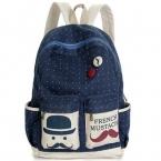 мода женщины рюкзак конфеты цвет знаменитый бренд борода школы для женщин и свободного покроя большие усы рюкзаки MI6544