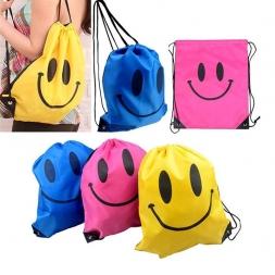 Лицо шнурок мешок Mochila плавание сумки школьные сумки для девочек и мальчиков мультфильм дети рюкзак водонепроницаемый