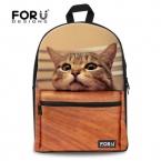 Мода детей школьные сумки милые 3D животных кошка школьный для девочек свободного покроя детей женщины школа книга Mochila эсколар