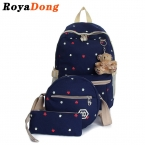 Royadong дети рюкзак школьные сумки для девочек Schooltas детей школьные сумки детские рюкзаки комплект мешок школы для девочек рюкзак