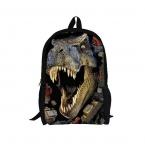 3D зоопарк животных школьные сумки для мальчиков девочек прохладный динозавров верховая рюкзак дети bookbag дети schoobag для подростков mochila