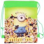 новый Миньон сумки детей школьные сумки для девочек и мальчиков милый мультфильм дети шнурок рюкзак две стороны подарки снова в школу