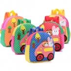 высокое качество холст школьные сумки для детей малый маленький ребенок детский сад сумки животных девушка мультфильм ткань детские рюкзаки