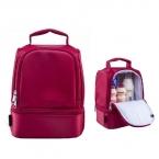 Новинка толстые теплые теплоизолирующего коробки нейлон обед мешок красный обед сумки с молнией охладителя обед изоляции мешок