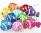 Микрофонный новые 10 цветов тропические рыбы складная эко многоразовые сумки 38 см x 58 см GB021