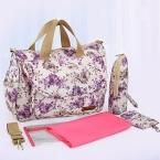 многофункциональный lot-картера матери-bag высокое качество беременным мумии пеленки мешки цветок стиль мама сумочка детская коляска мешок