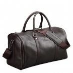 Baigio мужчины дорожная сумка из натуральной кожи большой емкости багажа водонепроницаемый выходные вещевой мешок