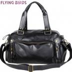 Летящие птицы  мужская дорожные сумки старинные мужская pu кожаная сумка мужчины посыльного сумки дорожные сумки на ремне bolsa viagem LM0396