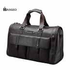 Baigio кожа мужская путешествия сумки спортивный костюм винтаж браун Buisiness путешествия Weekender сумки туризм водонепроницаемый ручной багаж