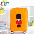 5 Sizes Travel Suitcase Cover Waterproof Dustproof Luggage Trolley Case Protective Cover Green/Blue/Gray/Orange Creative Pattern