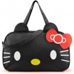 Женщины дорожная сумка   стиль холст спортивная сумка багаж сумки привет китти мультфильм Bolsa Feminina школьницы вещевой мешок