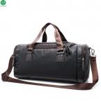 Натуральная кожа дорожная сумка мужчин вещевой мешок большой емкости спортивная сумка с плечевым ремнем сумка leahter сумки для мужчин