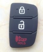 резиновую прокладку 3 кнопки отразить оболочки для Hyundai i30 i35 Solaris picanto Kia ключи от машины бланк чехол покрыть автозапчастей