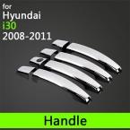 Горячая села для Hyundai i30 аксессуары хромированной отделкой наружная ручка двери футляр 2008 2009 2010 2011 автомобилей стайлинг автомобиля наклейки