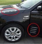 Для Mitsubishi ASX Outlander Lancer EX/Hyundai Solaris IX35 Автомобиль ABS Хром Styling Наклейки Высокое Качество Авто Аксессуары