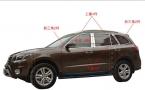 Для 2007 2008 2009 2010 2011  Hyundai Santa Fe хром окна 22 шт. рамы подоконник ремень планки с центральной стойки