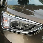 На  Hyundai Santa Fe ix45 5dr Хэтчбек ABS Хром Передняя Фара Крышка Лампы 2 шт.
