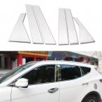 6 шт./компл. стайлинга автомобилей из нержавеющей стали окна-центр Pilliar отделка украшения полоски для Hyundai Santa Fe IX45