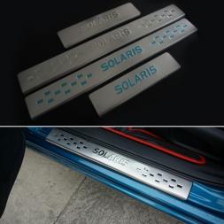из нержавеющей стали порога накладка автоаксессуары для Hyundai solaris седан хэтчбек  -